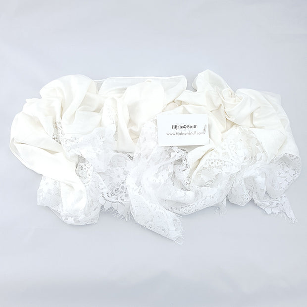 Jersey Lace - Off White #12 - Hijabsandstuff
