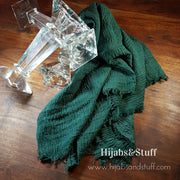 Rippled Hijab - Deep Green #21 - Hijabsandstuff