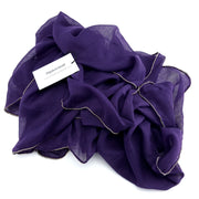 Gold Edge Hijab - Midnight Purple #12 - Hijabsandstuff