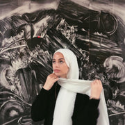 Crinkled hijab - white (last piece)