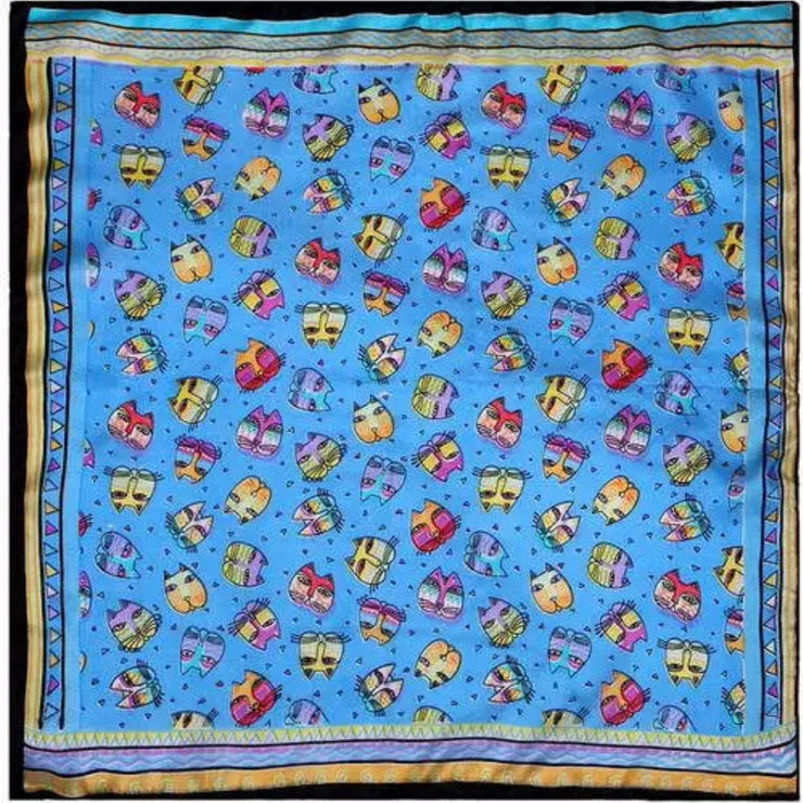 Silk Bandana - blue #3