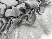 Jersey Lace 2 Edges - Grey  #02 - Hijabsandstuff