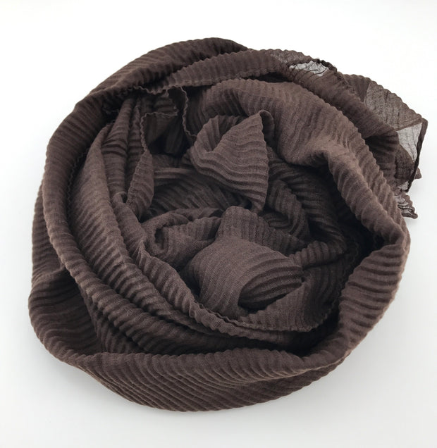 Crinkled hijab - Chocolate (lady piece)