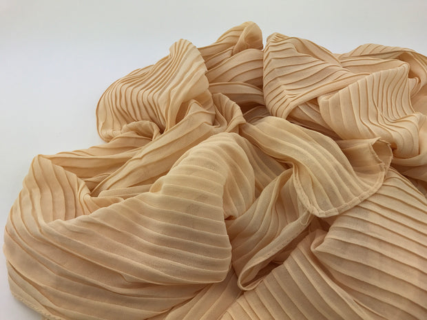Chiffon pleated - Nude #016