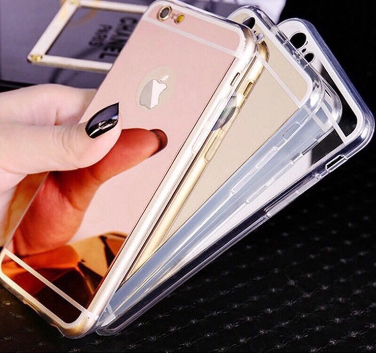 Mirror cover for iPhone 6 plus- rose gold