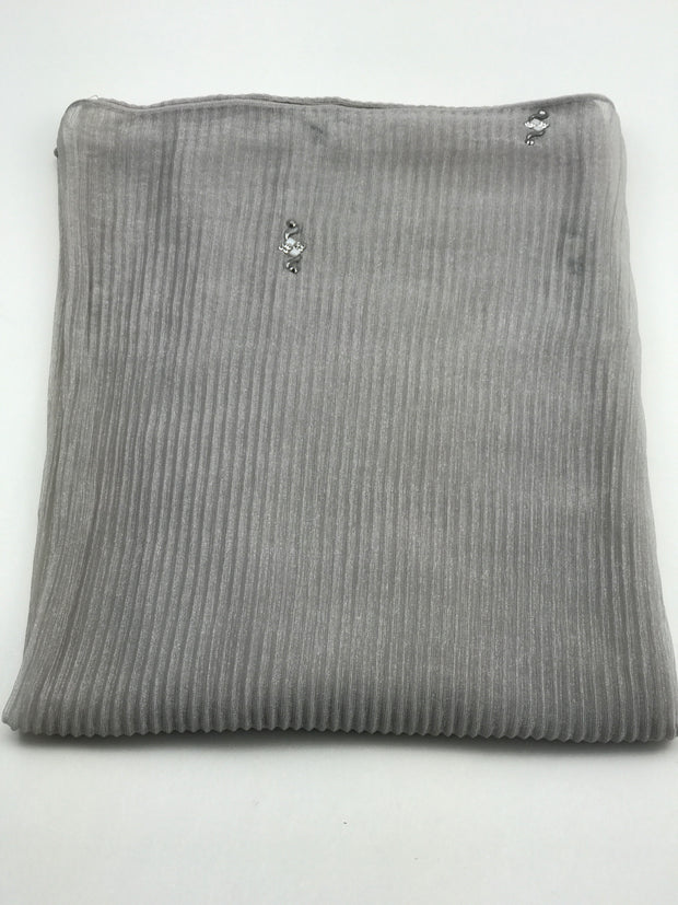 Cashmere pleated chiffon - light grey