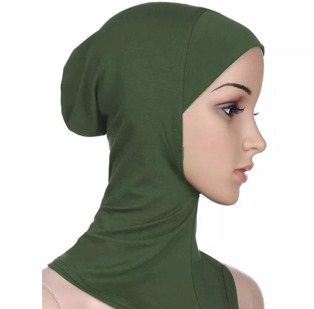 Full coverage under scarf cap - Green
