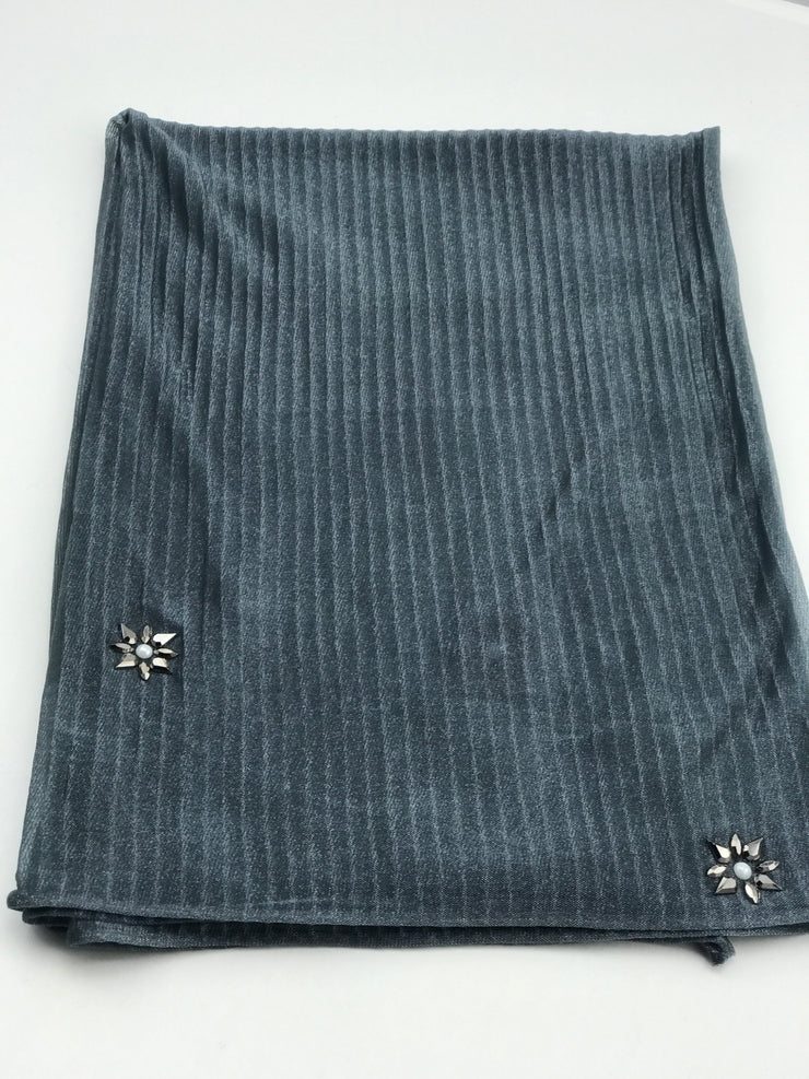 Cashmere pleated chiffon - stone grey