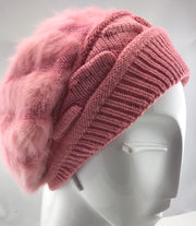 Fur Beanie - Baby Pink #19 (last pieces)