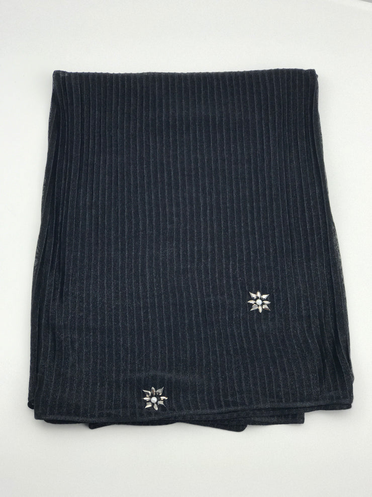 Cashmere pleated chiffon - Black (last piece)