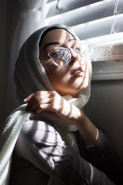 Rippled Hijab - off-White #10
