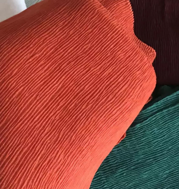 SOFT VISCOSE CRINKLED - CARROT