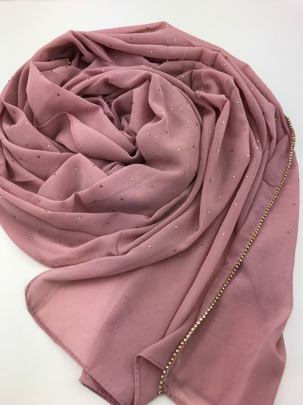 Stone Chiffon - skin mauve (limited quantities available)
