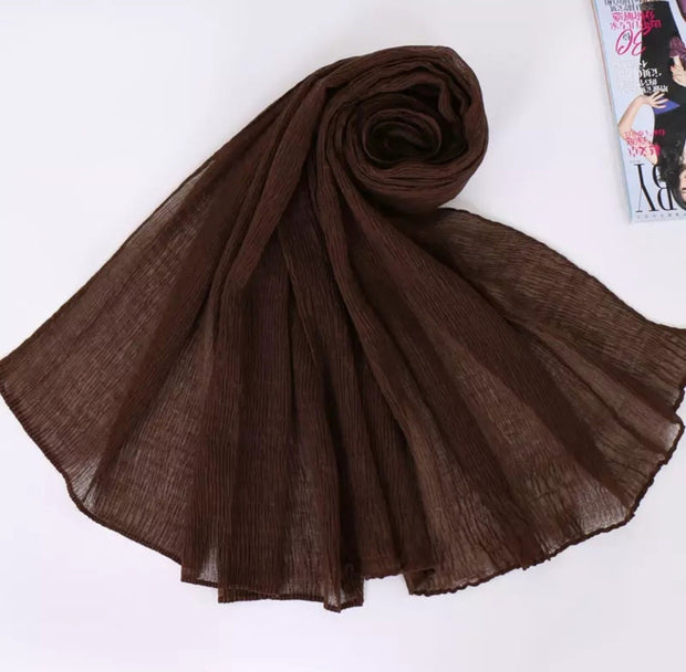 SOFT VISCOSE CRINKLED - CHOCOLATE