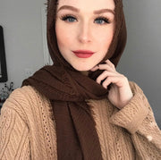 Rippled Hijab - Chocolate #11