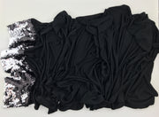 Charcoal Black - Prestigious Sequin (one edge, sequin double sided)