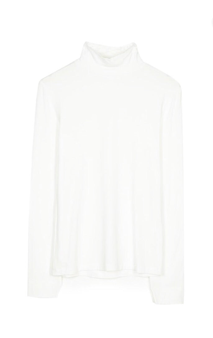High neck top - White medium size