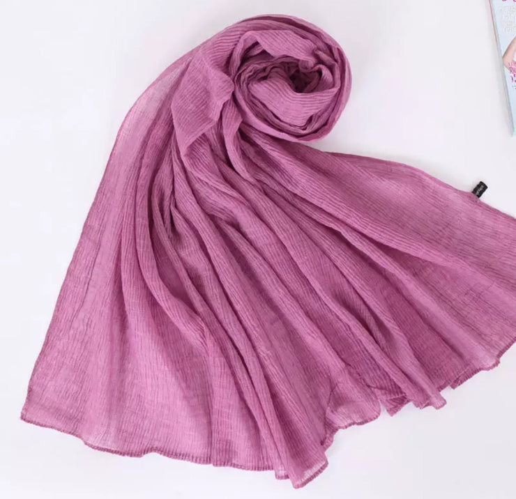 SOFT VISCOSE CRINKLED - PINK ROSE