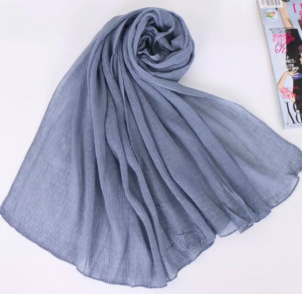 SOFT VISCOSE CRINKLED - GREY