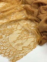 Luxury Lace - yellow mustard