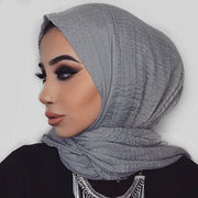 Rippled Hijab - Light Grey (last piece)