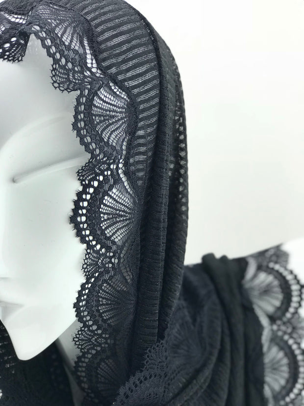 Cashmere lace - Black