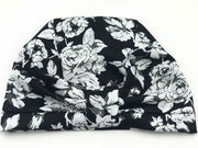 Turban - floral black and white