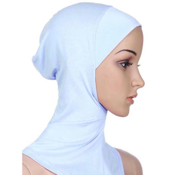 Full coverage under scarf cap - off white