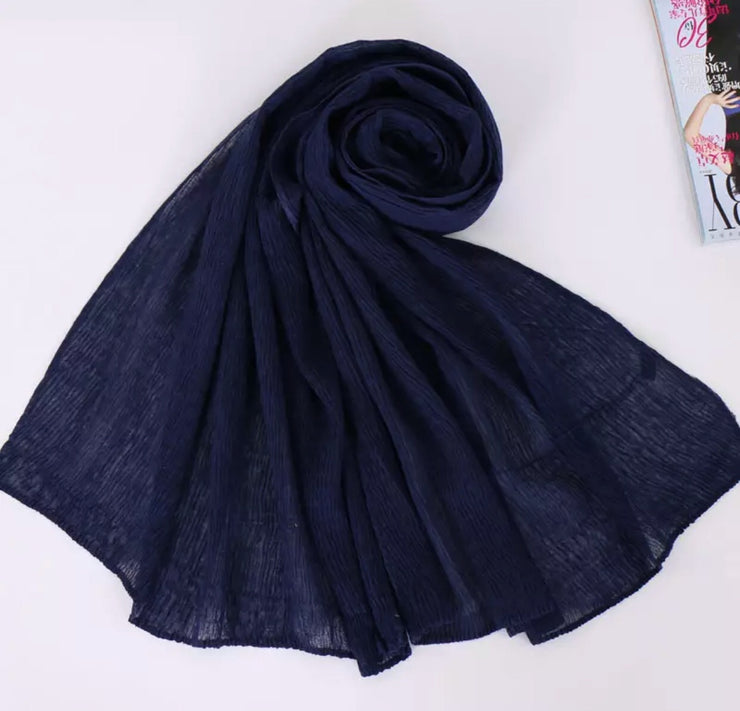 SOFT VISCOSE CRINKLED - NAVY