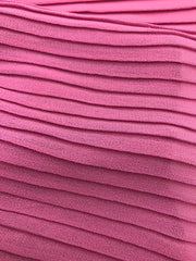 Chiffon pleated - watermelon Pink #013
