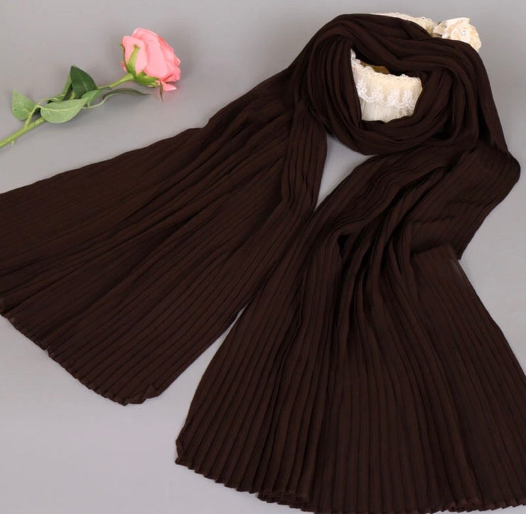 Chiffon pleated - dark chocolate #21