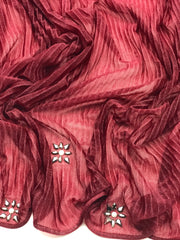 Cashmere pleated chiffon - burgundy