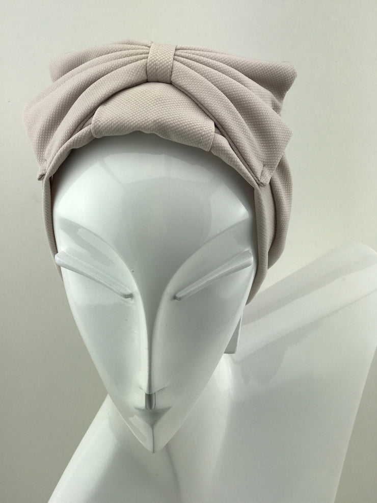 Turban - cotton sand with bow