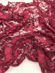 Luxury Full Lace Hijab - Burgandy (NEW ARRIVAL)