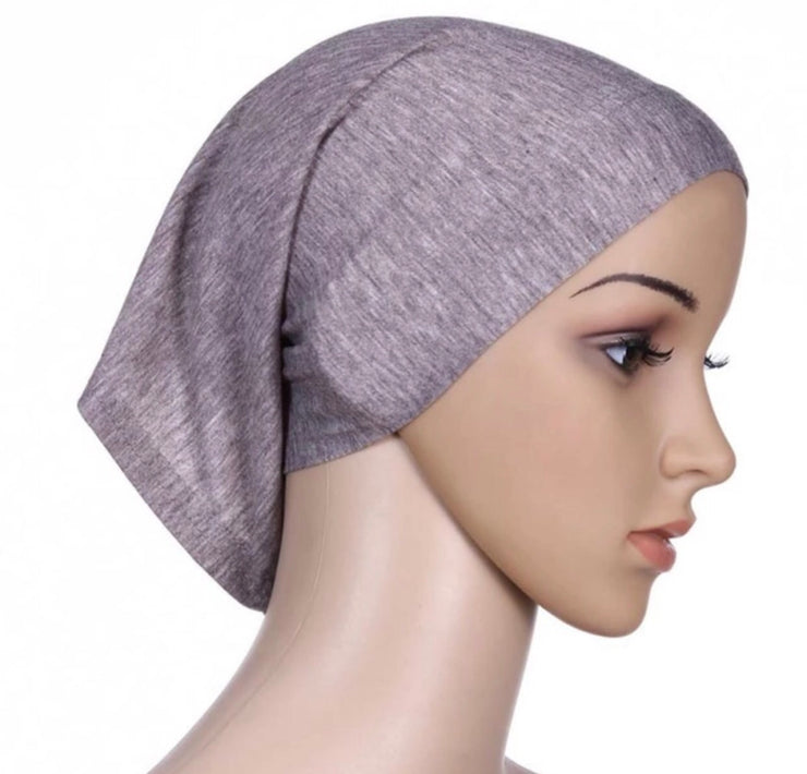Under scarf cap - grey