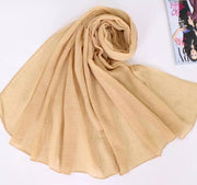 SOFT VISCOSE CRINKLED - NUDE