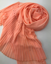 Premium Chiffon - pearls Light Orange ( New arrival )