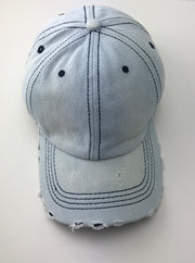 SUMMER CAPS- pale jeans blue