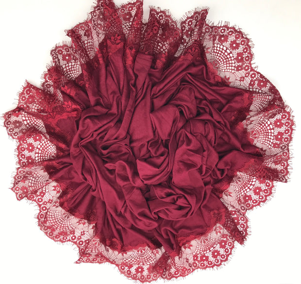Jersey Lace 2 Edges - Deep Red (NEW ARRIVAL)