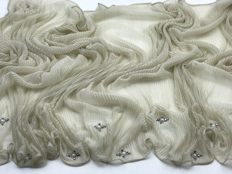 Cashmere pleated chiffon - sandy