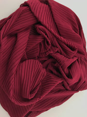 Chiffon pleated - Burgundy