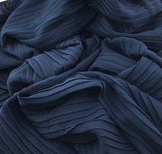 Chiffon pleated - Night blue #018