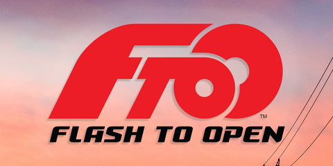 New Logo from motorcycle company Flash to Open