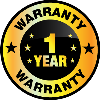 1 year limited warranty badge