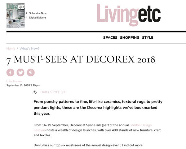 Living Etc 7 Must-Sees at Decorex Featuring The Monkey Puzzle Tree