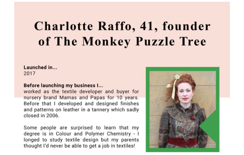 Interview with our founder, Charlotte Raffo thanks to UKFT Rise