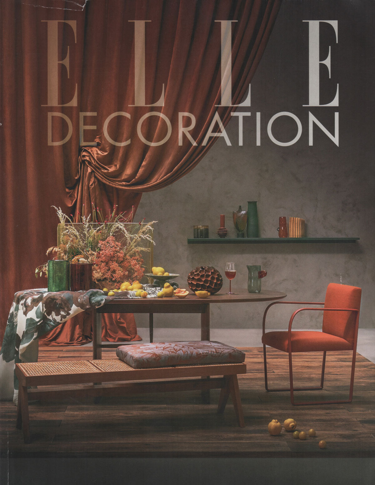 Elle Decoration October 2019 featuring fabrics by The Monkey Puzzle Tree
