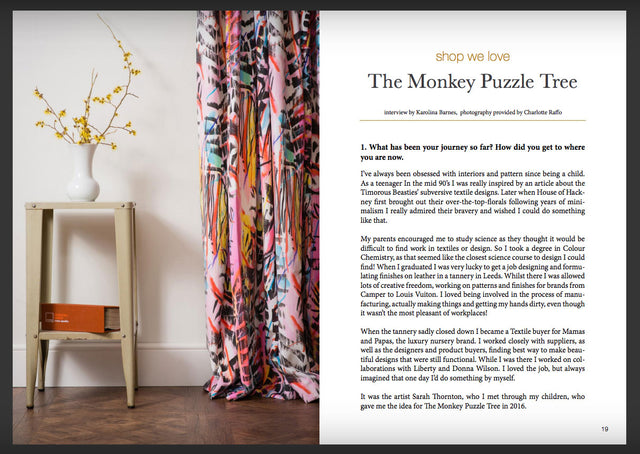 Estila Magazine Issue 33/34 Interview with Charlotte Raffo from The Monkey Puzzle Tree