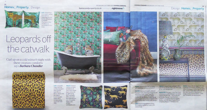 The Evening Standard - 'Leopards off the Catwalk' featuring The Monkey Puzzle Tree