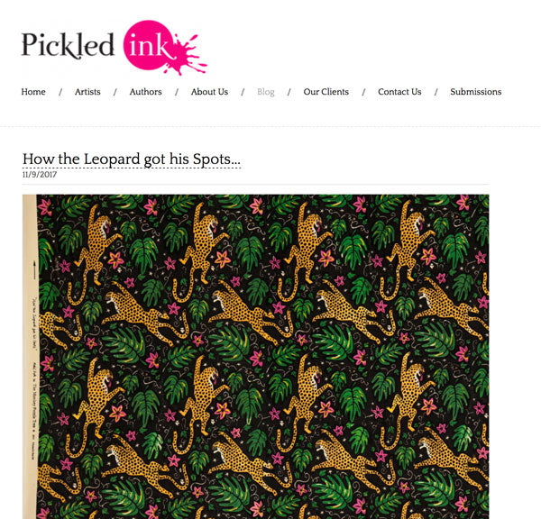 London illustration agency Pickled Ink on Alexis Snell and 'How the Leopard got his Spots'